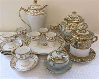 Vintage Handpainted Nippon Tea Set and Lidded Jar https://ctbids.com/#!/description/share/230635