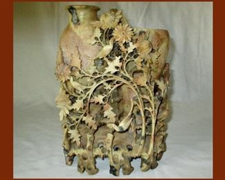 Huge Piece of Beautifully Carved Soapstone