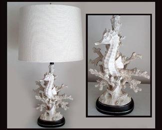 Wonderful Pair of Seahorse Lamps