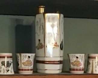 Vintage Saki Set