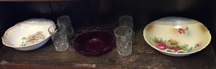 Bavarian Bowls and Vintage Glassware