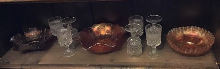 Carnival Glass and Vintage Glassware