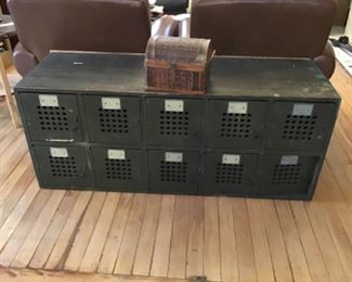 Carrier Pigeon Boxes turned Console/Coffee Table