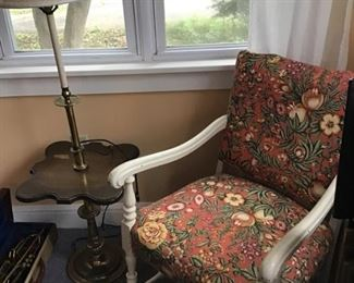 Arm Chair and Table Lamp