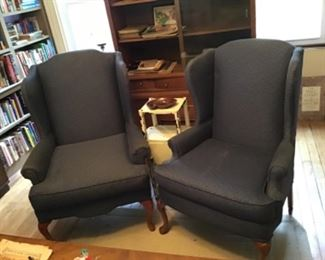 Wing Back Chairs and Smoking Stand