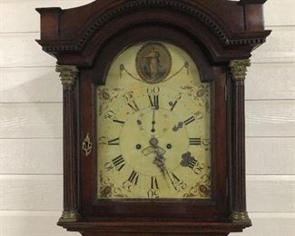 18th Century Grandfather Clock with Hand Painted Face