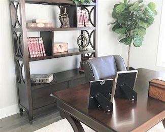 Office furniture and bookshelf