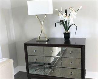 Small mirror front dresser