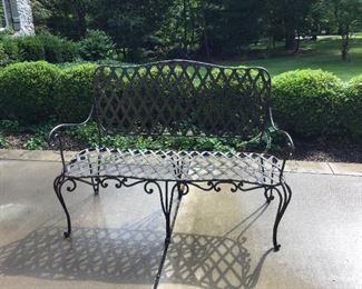 Beautiful wrought bench