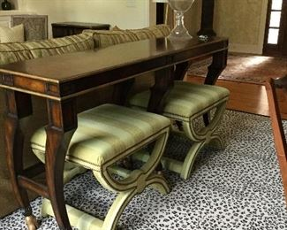 Gorgeous sofa table and benches