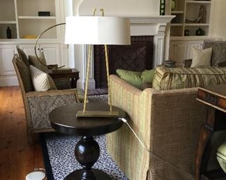 Contemporary lamp and table