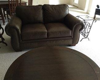 Broyhill 2 cushion leather sofa