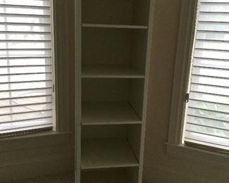 Pottery Barn swivel unit -shelves, mirror, pegboard