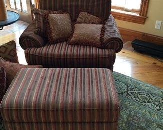 Sherrill oversized chair and ottoman