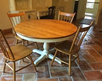 Athol Table rustic farm table and 4 chairs