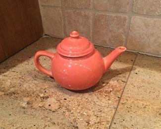 Fiesta persimmon teapot