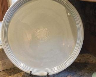 Fiesta pearl grey chop plate