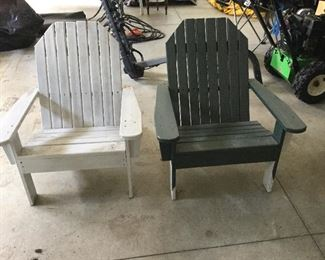 Pair child's Adirondack chairs.