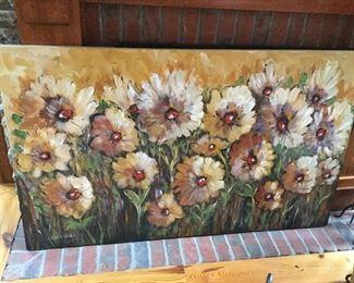 Karen Heaton large floral canvas