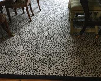 Cheetah print rug 12'x24'