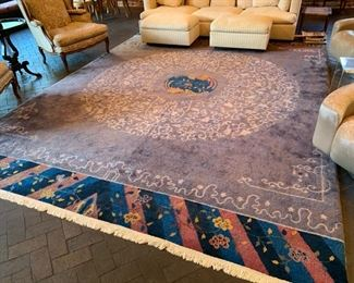 """15. Antique Asia Wool Rug (9'9"""" x 13'9"""")"""