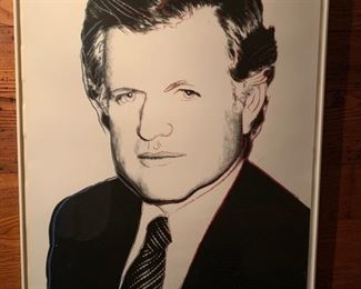 Ted Kennedy Lithograph enhanced with Diamond Dust, 70/300 by Andy Warhol
