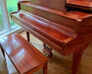 11. Chickering Baby Grand Piano