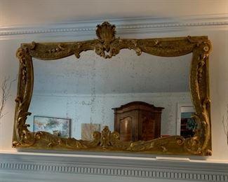"16. Antique Gilt Framed Mirror (59"" x 38"")"