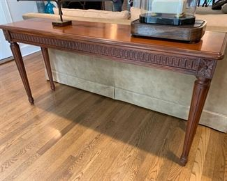 """20. Carved Console Table (62"""" x 16"""" x 30"""")"""