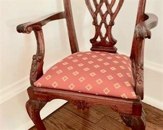 "58. Miniature Chippendale Chair (11"" x 10"" x 19"")"