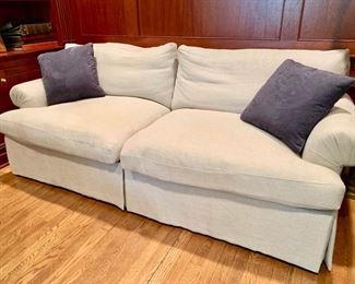 """42. Custom Down 2 Cushion Linen Sofa (78"""" x 38"""" x 30"""")"""