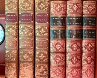 51. Athénée De La Ville D'Anvers 1822 (3)                               53. Memoirs of St. SImon 1883 (3)                                                 54. Parkman's Work 1906 (3)