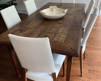 """60. Tourette End French Elm Farm Table (76"""" x 37"""" x 31"""")"""