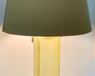 """65. Pair of Frosted Glass Lamps (27"""")"""