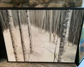 """67. Birch Trees in Winter Signed (49"""" x 39"""")"""