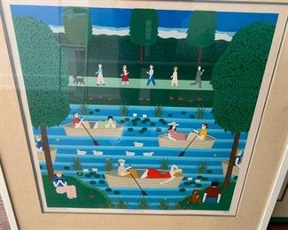 """70. """"Boating"""" Artists Proof by OKU (34"""" x 29"""")"""