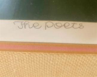 "69. ""The Poets"" Artists Proof by OKU (32"" x 27"")"