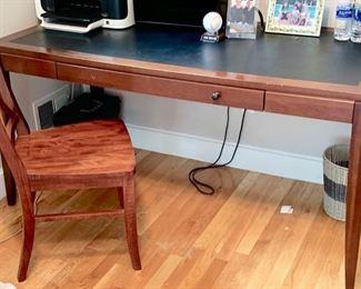"76. Copeland Furniture Bradford Vermont Single Drawer Desk (60"" x 30"" x 30"") 77. Pottery Barn Side Chair"