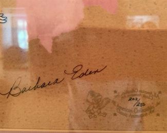 """86. """"I Dream of Jeannie"""" signed by Barbara Eden 202/250 (24"""" x 21"""")"""