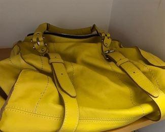 True Religion Yellow Handbag
