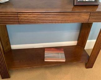 """91. Vintage Lane Console Table w/ Parquet Top (40"""" x 14"""" x 27"""")"""