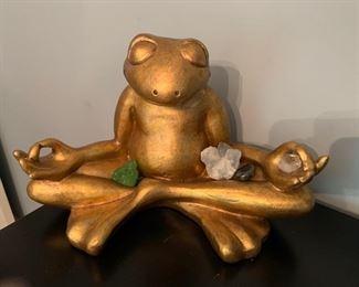 95a. Gilt Frog Buddha