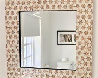 "96. Star Framed Beveled Mirror (30"" x 30"")"
