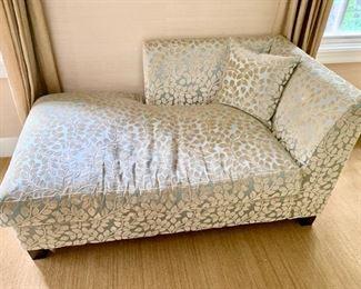 """98. Silk and Velvet Upholstered Chaise (58"""" x 33"""" x 31"""")"""