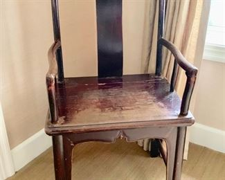 """105. Vintage Chinese Wooden Chair (23"""" x 17"""" x 43"""")"""