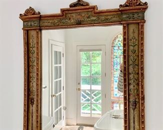 """111. Antique Hand Painted Mirror (26"""" x 41"""")"""