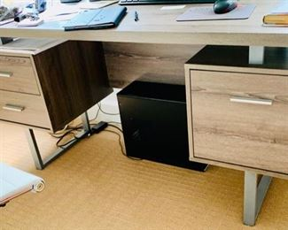 "115. Contemporary Desk (60"" x 24"" x 30"")"