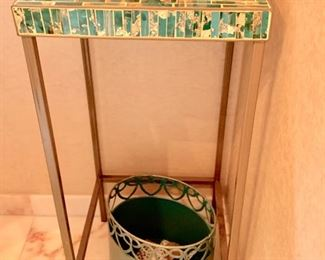 """123.  Metal Accent Table (13""""x 13"""" x 29"""")"""