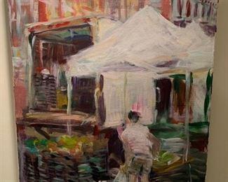"""126. Waterfront Market by Edward Cheung 2014 (30"""" x 39"""")"""