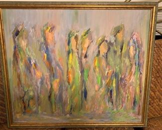 183. Contemporary Oil on Canvas by Herman Montag 1950